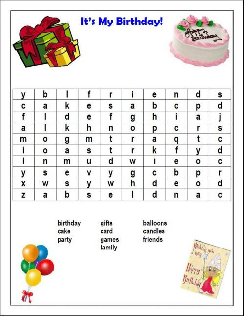 word search party